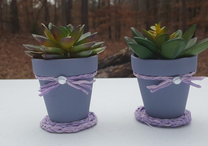 Lavender Mini Clay Pot